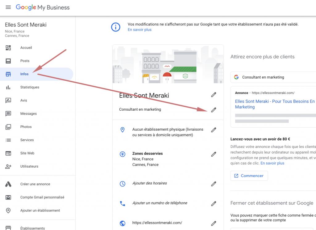 catégorie secondaire google my business