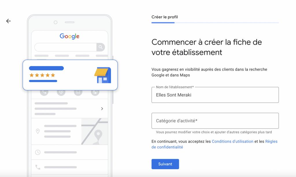 nom etablissement google my business