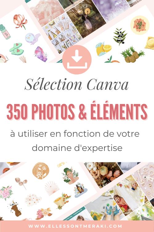 Sélection Canva de Photos et elements