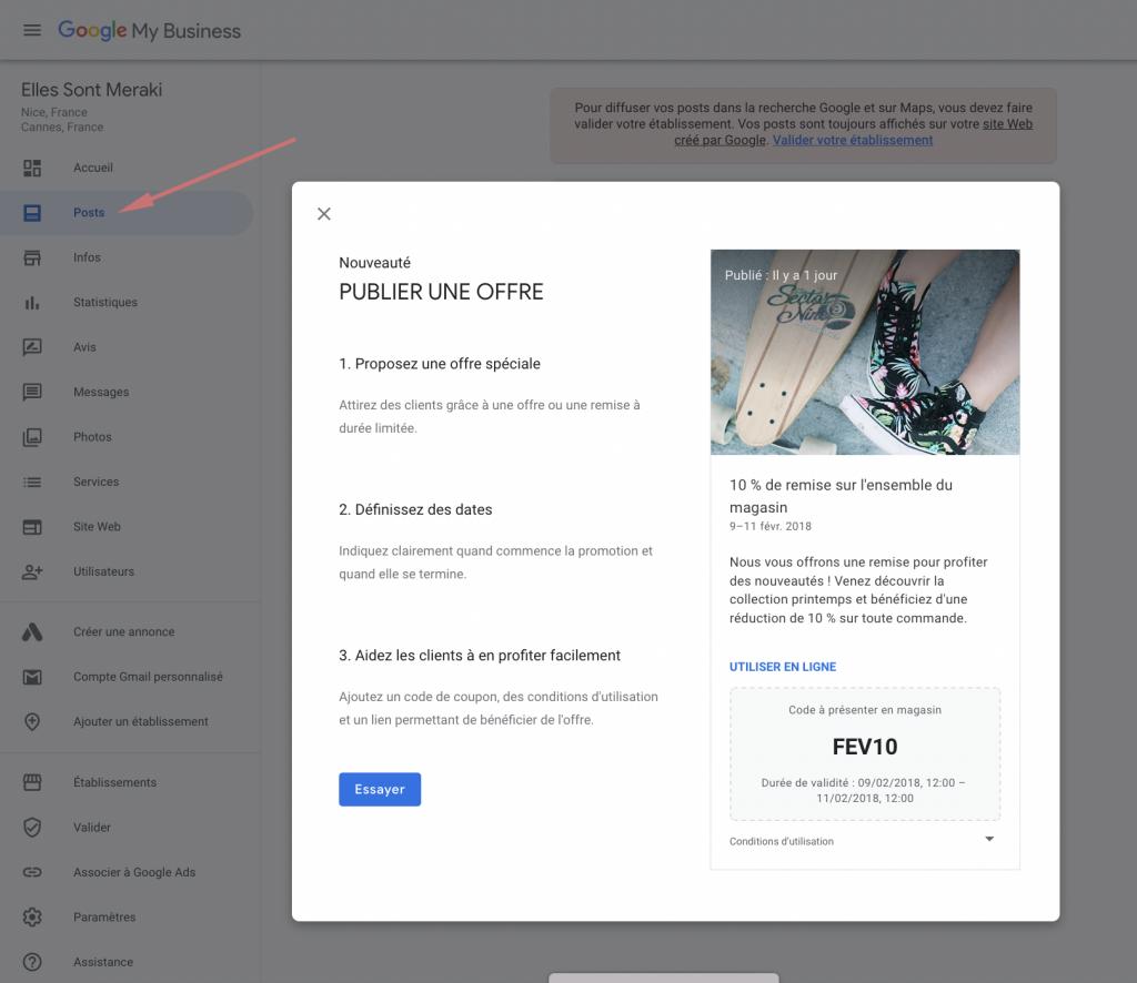 posts google my business