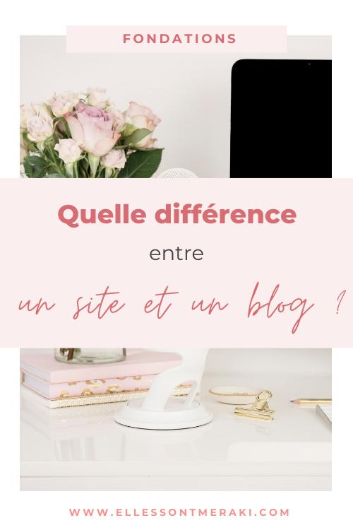 Site et blog : quelle différence ?