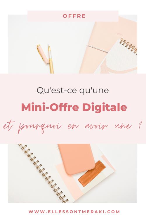 Qu'est-ce qu'une mini offre digitale et pourquoi vous devriez en avoir une ?