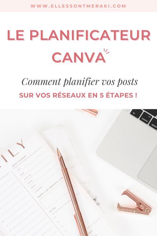 Comment utiliser le planificateur Canva